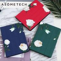 Rose Mooie Ultra Slim Smart Tablet bloem PU Case Voor iPad mini 1/2/3/4 Auto Sleep/Wake Tablet Cover fundas gratis gift Capa Para