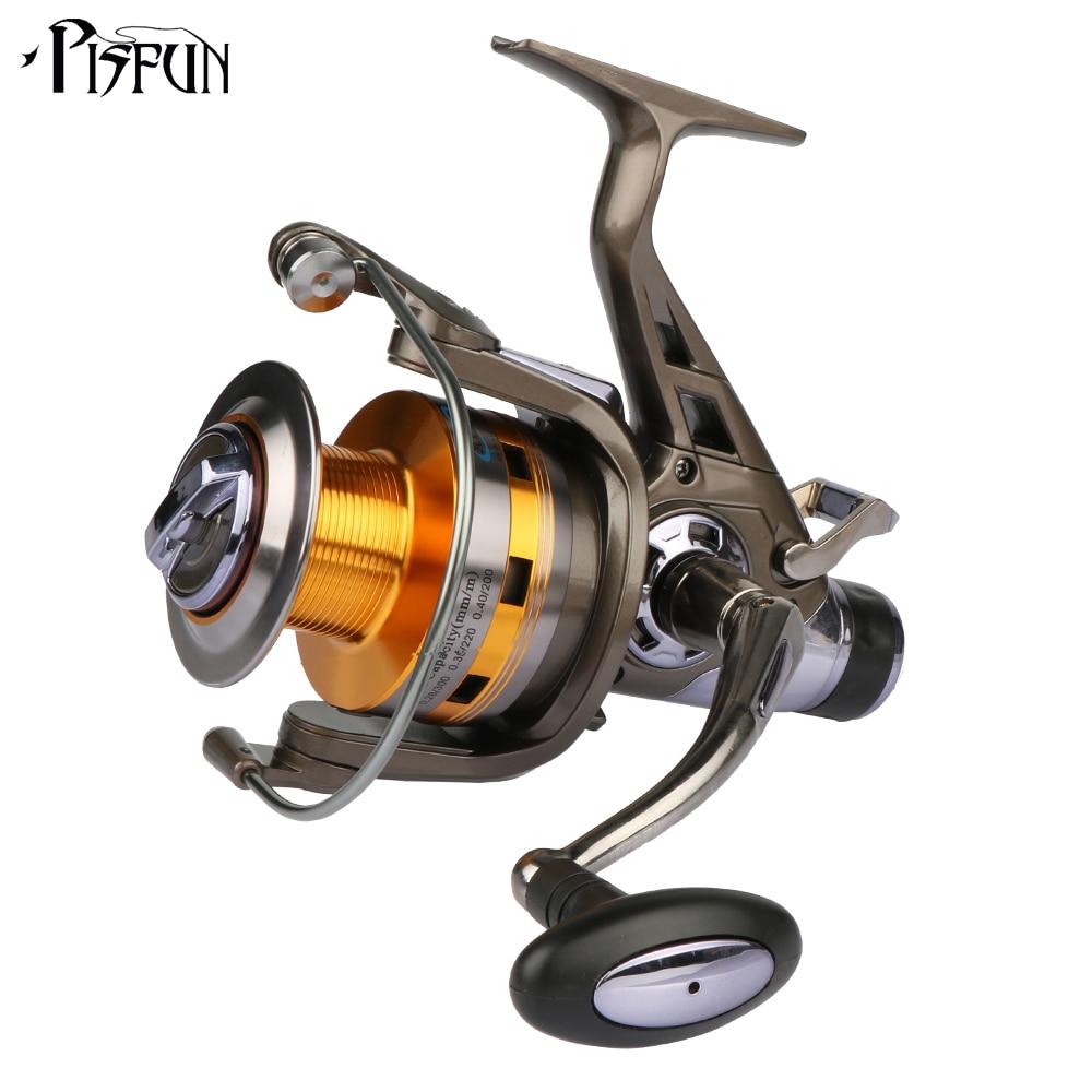 ФОТО Pisfun Spinning Fishing Reel Double Drag Carp Fishing Reel Metal Spool 10BB 5.2:1 for Freshwater Saltwater