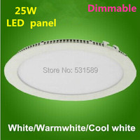 Freeship 30pcs/lot Dimmable 25W LED panel 25w ceiling downlight / AC85 260V led panel by DHL / Fedex