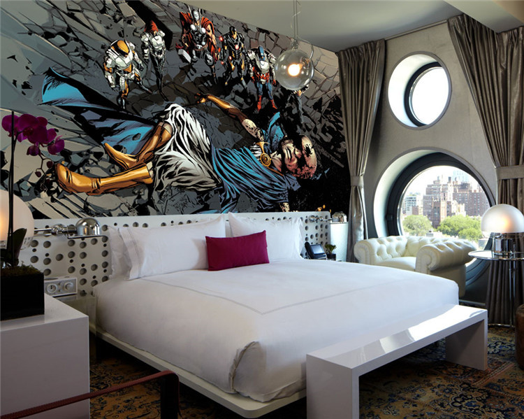 Superhero Wall Murals justice league photo wallpaper superhero wall mural custom