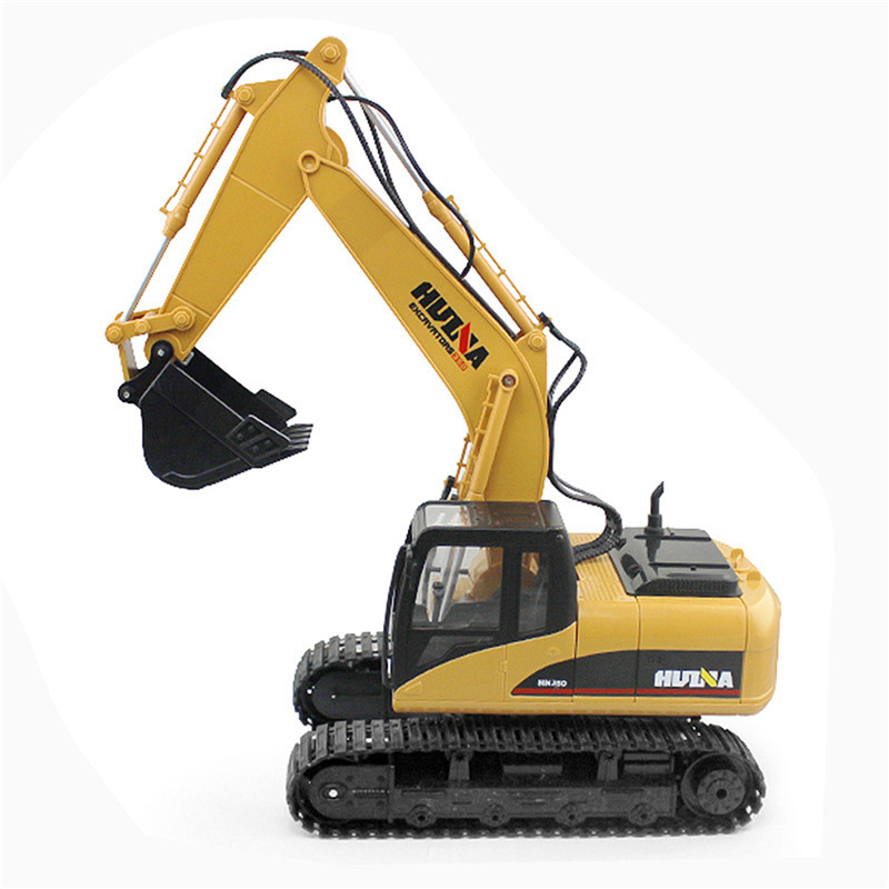 2018 Newest Fuuny 2.4G 1/12 RC Plastic Excavator 1:12 15 Channels Kids Toys Christmas Best Gifts For Children