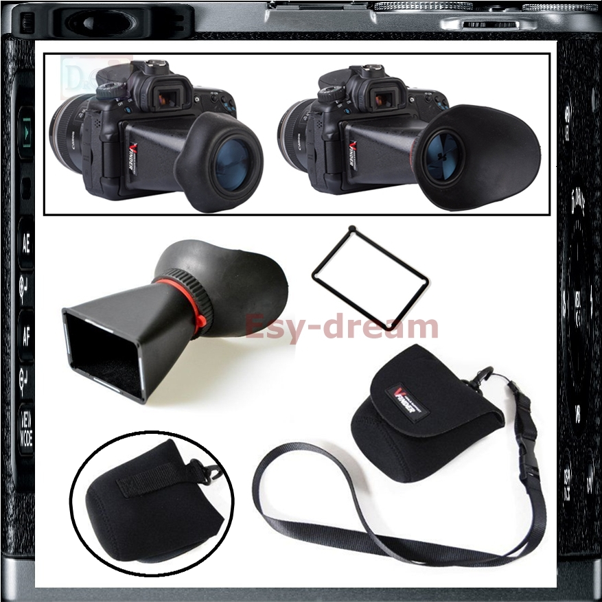 2.8X 3 inch LCD Zoom Loupe Viewfinder Display Magnifier for Canon 60D 600D 550D Rebel T2i T3i Kiss X4 X5 650D GH1 GH2 GH3 PB024 купить в Москве 2019