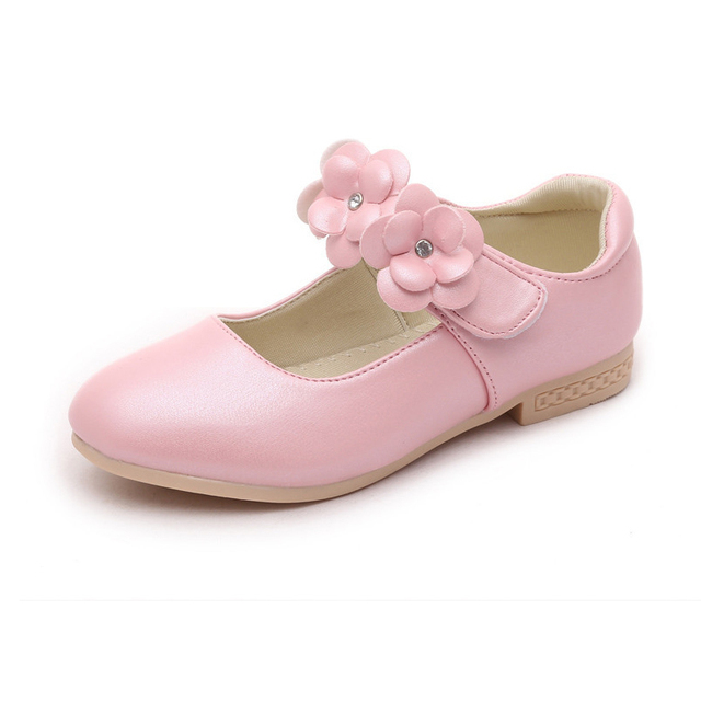 2018 New Girls Dress Shoes Kids Princess Leather Shoes Child Casual Leather  Shoes Gold White Pink Girls Shoes Size 26-36 bf89a99de5f3