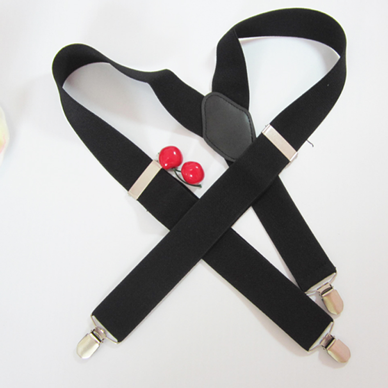 Man's Suspendders Leather Braces  Adjustable Suspenders Strong 3clasps Casual Male Suspenders
