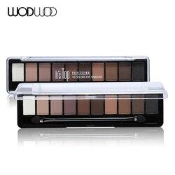 Professionelle Make-Up Marke Erde Farbe 10 Farben Lidschatten-palette Glitter Eye Palette Maquiagem Matte Seidige Pigmente Lidschatten