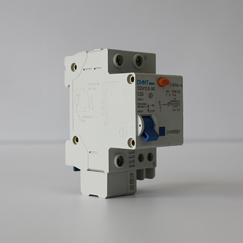 Breaker,DZ47LE 32 1P+N C25 CHNT Circuit Breaker, 230V 25A 1 phase ...