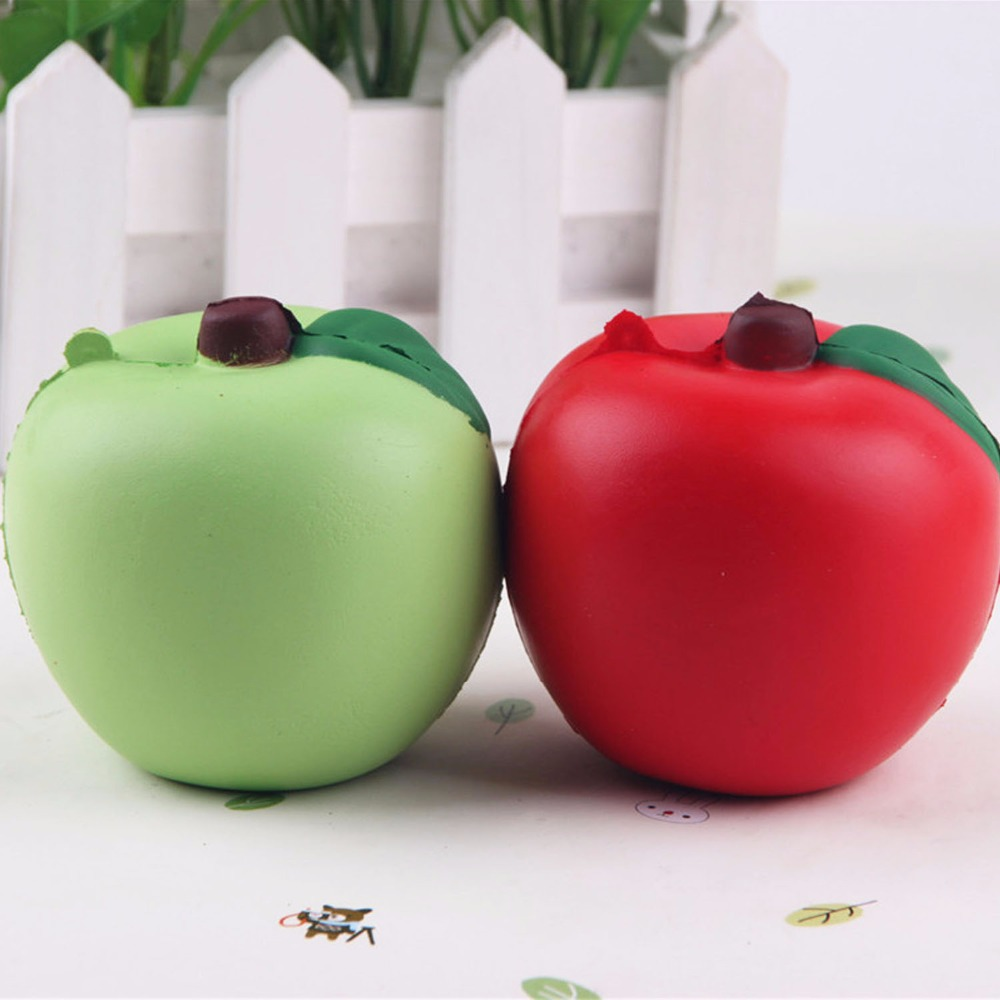 Mskwee 2018 New Slow Rising 7CM Cute Apple Squishy Squeeze Squishi Toy Slow Rising For Kids Adults Relieves Stress Anxiety Toys