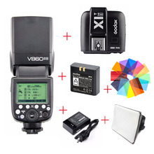Godox Ving V860II V860II-S TTL HSS Speedlite Flash For Sony A7 A7S A7R + softbox + Color Filters  +  X1T-S Transmitter + Battery