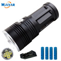 zk30 led flashlight MI-5 10000LM Torch 5x Cree XM-L T6 tactical flashlights led torch lamp flashlamp with rechargeable battery