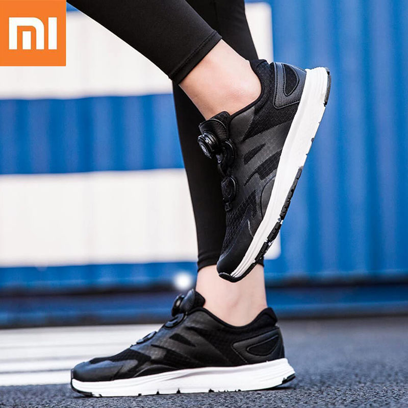 Xiaomi Mijia Youpin Rotary Buckle Sports Casual Shoes Leather Breathable Mesh Lightweight Men Women Running Sneakers