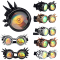 Hot Sale Steampunk Goggles Glasses Welding Punk Gothic Glasses Funny scary Christmas Cosplay Unisex Vintage 6Colors 1pcs