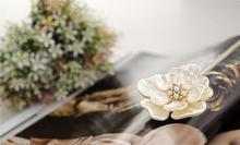 Лидер продаж броши с жемчугом и цветком для женщин модные изысканные