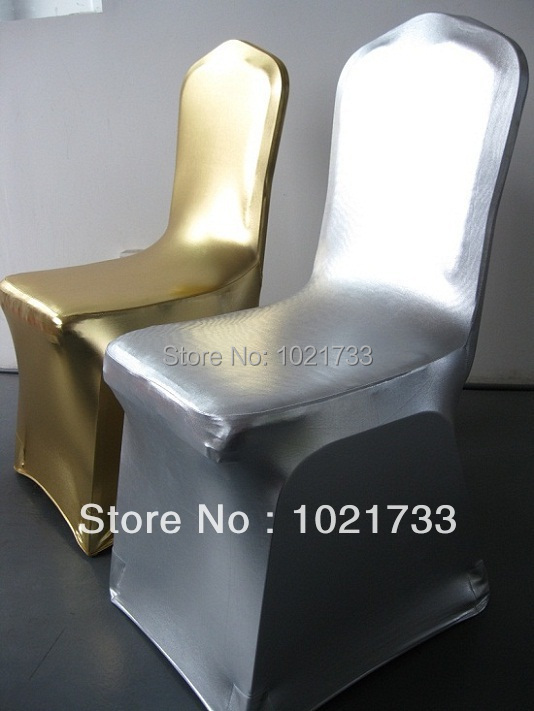 gold chair cover,metallic gold and silver spandex,220gram