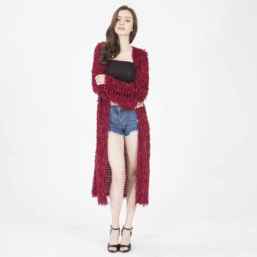 2b19d8aaa7 2019 Ulzzang Girl Casual Long Knitted Cardigan Autumn Korean Women Loose  Solid Color Tassel Design Sweater