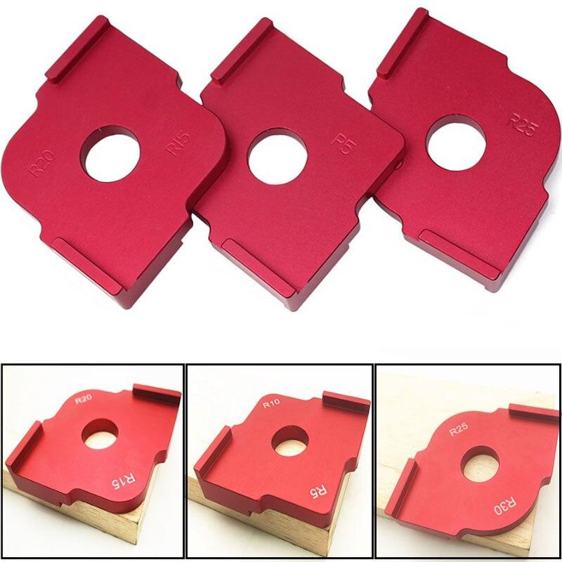 R5/r10/r15/r20/r25/r30 painel de madeira raio r placa máquina de corte máquina de gravura canto redondo modelo kit canto gabarito