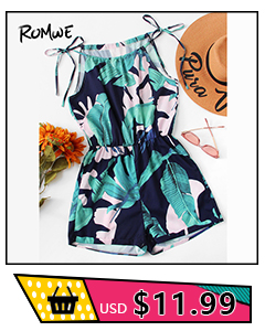 a92dc628f04f ROMWE Fluted Sleeve Floral Print Surplice Romper With Belt Women ...