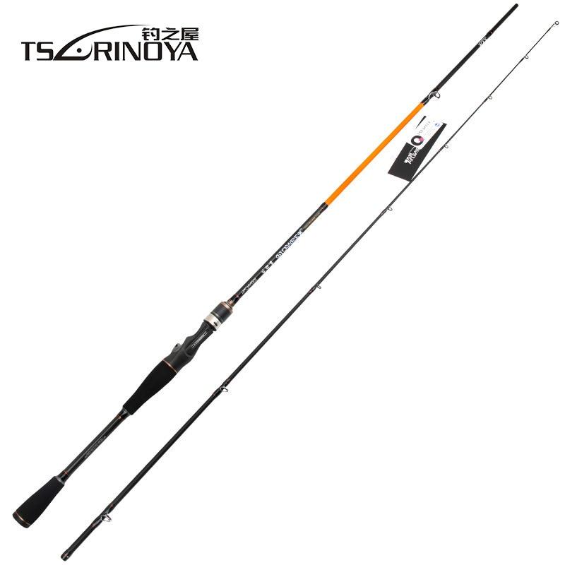 TSURINOYA PIONEER Spinning/Casting Fishing Rod Carbon 2.1m M/ML Power 2 Sections Lure Rod Eva Handle FUJI Guide Ring Rod Peche