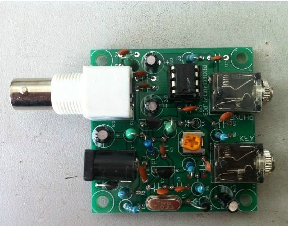 QRP Pixie CW DIY Kit , a simple 40 meter band radio transceiver, 7.023 MHZ  , Short-wave radio transmitter receiver /NO.1800