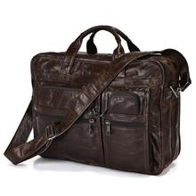 Maxdo Guaranteed genuine leather bag Men's Briefcase men messenger bags natural cowskin 14″ laptop handbag man #MD-J7093