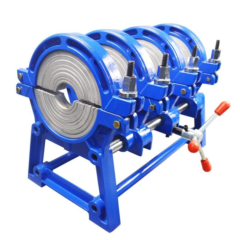 Livraison gratuite 3 ans de garantie AC220V 4 anneaux 63-160mm Fusion bout à bout Machine à souder pour tube en plastique PE PP PB PVDF HDPE PVC tube