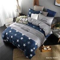 TUTUBIRD Stars print duvet cover striped plaid bedding sets simple style bedlinen bedsheet pillowcase king queen size
