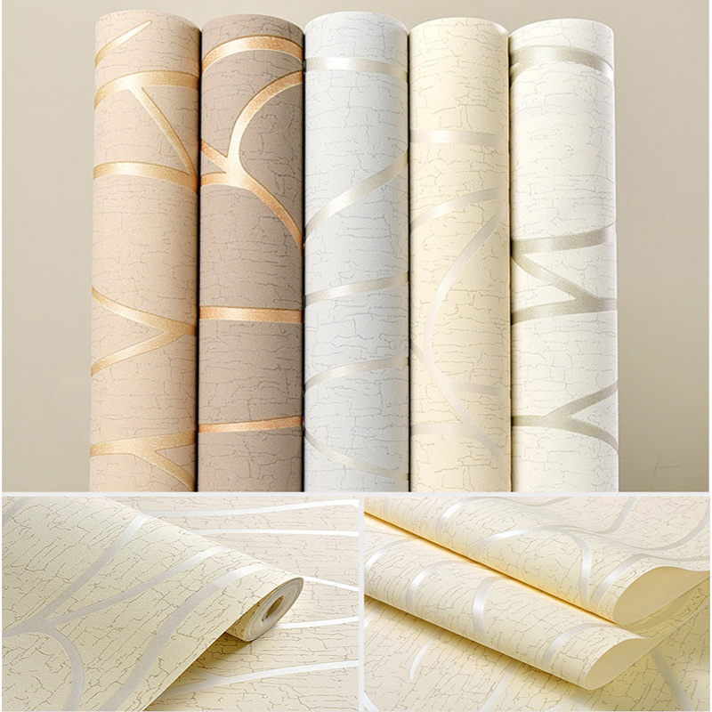 10M On-woven Wallpaper Simple Wallpaper Roll Bedroom Dinning Living Room Wall Covering Modern 3D Wall Paper Home Decor