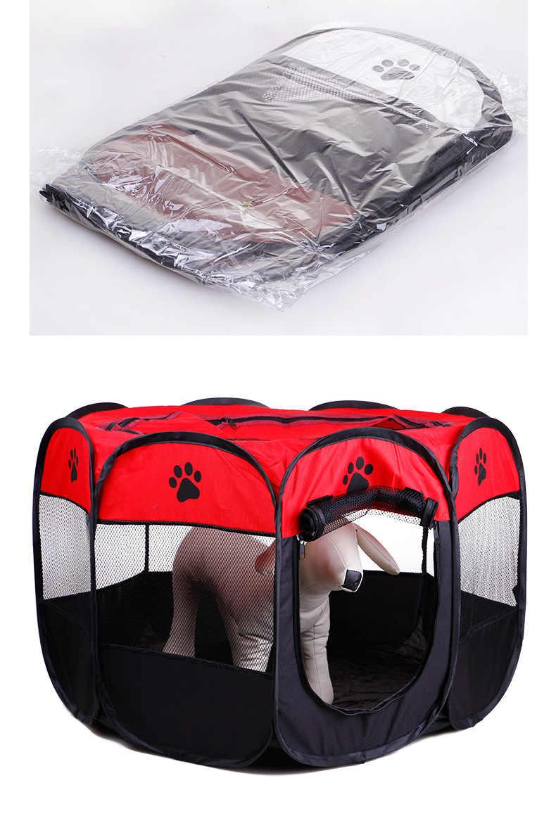 Портативная складная палатка для домашних животных, собачий домик, клетка для собак, кошек, палатка, манеж, щенок, питомник, восьмиугольный забор простой в эксплуатации, товары для улицы