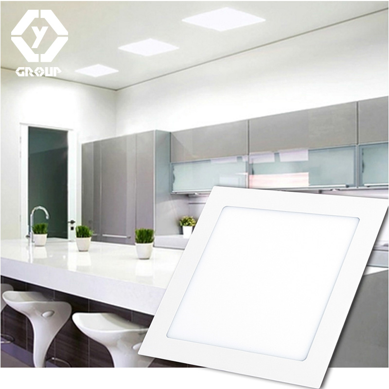 OYGROUP Ultra Thin Frame Led Downlight Dimmable 220V 110V High Brightness LED Panel Light Down Square Round Recessed #OY517CP02S dhl ship 18w surface mounted led downlight round panel light smd ultra thin circle ceiling down lamp kitchen bathroom lamp