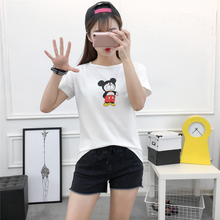 The New Spring And Summer 938 Large Size Women Sexy Clothes Loose T-shirt Student Dress Couture Shot