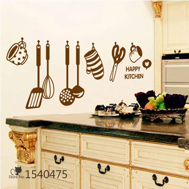 Diy Cute Lovely Cook Supply In Kitchen Cartoon House Sticker Wallpaper Home Decor For Kids S Children Gifts Bedrooms Windows Wall Stickers From
