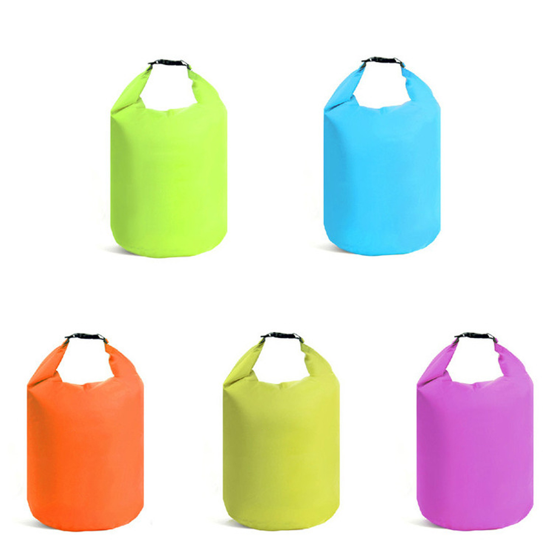 Tactical 5 Color 10L 20L Outdoor Swimming Waterproof Bag Camping Rafting Storage Dry Bag With Adjustable Strap Hook