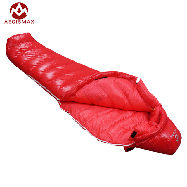 Cheap AEGISMAX outdoor camping goose down Mummy Splicing Double sleeping bags suit for cold weather