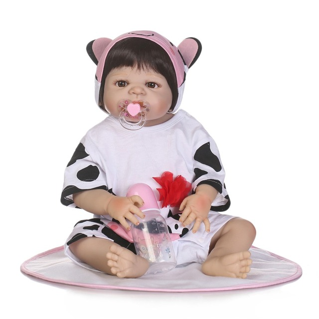 Reborn Doll with Soft Real Gentle Touch Handmade Full Vinyl Doll 1