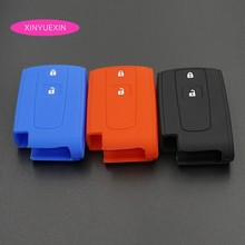 Xinyuexin For TOYOTA Prius Crown Silicone Rubber Car Key Fob Cover Case Shell Set  Key Case for Car Car Styling 2 Buttons