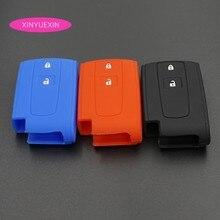Xinyuexin для TOYOTA Prius, Crown силиконовый каучук автомобильные чехол для брелка с ключом корпус чехол для ключей для автомобиля стайлинга автомобилей 2 кнопки