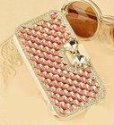 Bling Crystal Rhinestone Leather Diamond Rhinestone Luxury Flip Wallet Card Skin Case Cover For IPHONE4S 5S 5C 6S 7 7PLUS 8PLUS