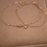 Trendy Charm Bracelet Bangle Chain Gold Jewelry Lady Square Heart Bracelet Women Fine Wedding Engagement Jewely