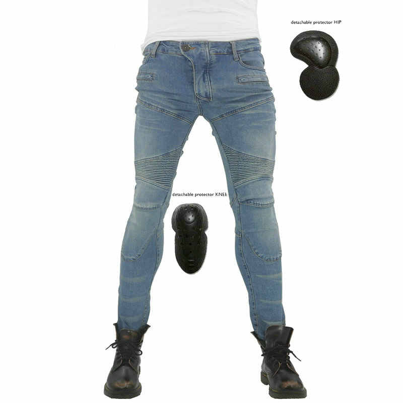 New KOMINE Four seasons motorcycle jeans casual motorcycle riding pants men and women self-cultivation anti-shock pants