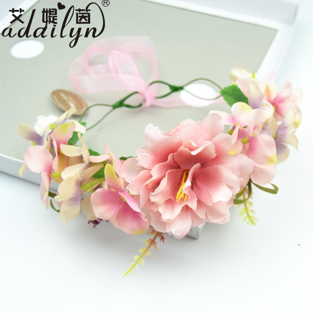 Fashion Wedding Headband Kids Party Handmade Ribbon Adjustable