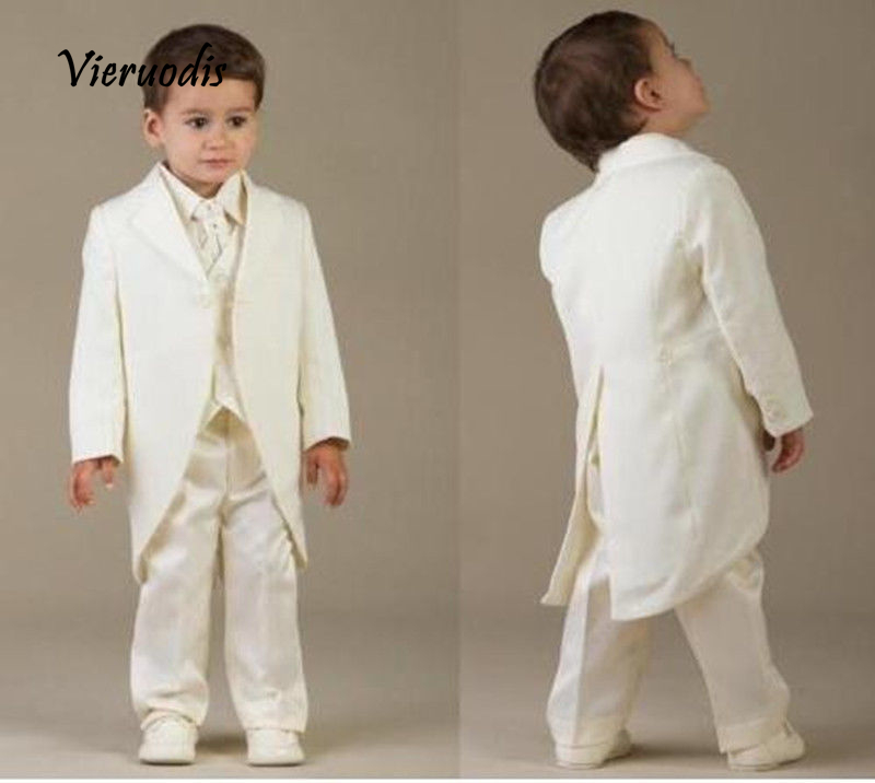 Custom Made Boys Formal Suits Tailcoats Children Tuxedos Wedding Party Suits 3 Piece Set