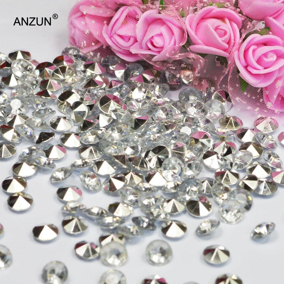 1000 шт 6 мм Свадебная вечеринка алмазные Конфетти Свадебные для декорации стола - Цвет: Silver