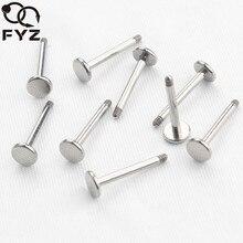50 ชิ้น/ล็อตสูง 14G 16G Solid G23 ไทเทเนียม Labret แหวนบาร์ Lip Piercing Labret เปลี่ยน Piercing Body เครื่องประดับ