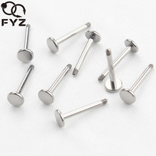 50pcs/lot Highly Polished 14G 16G Solid G23 Titanium Labret Ring Bar Lip Piercing Labret Replacement Piercing Body Jewelry