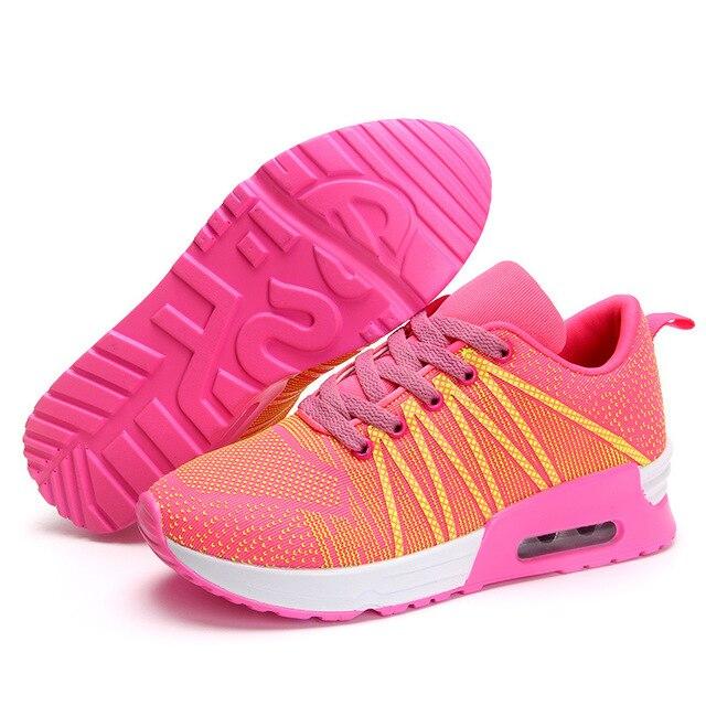 Новые 2017 Моды Квартир Женщин Кроссовки Дышащий Спорт Женщина Обувь Повседневная Открытый Прогулки Женщины Квартиры Zapatillas Mujer 663