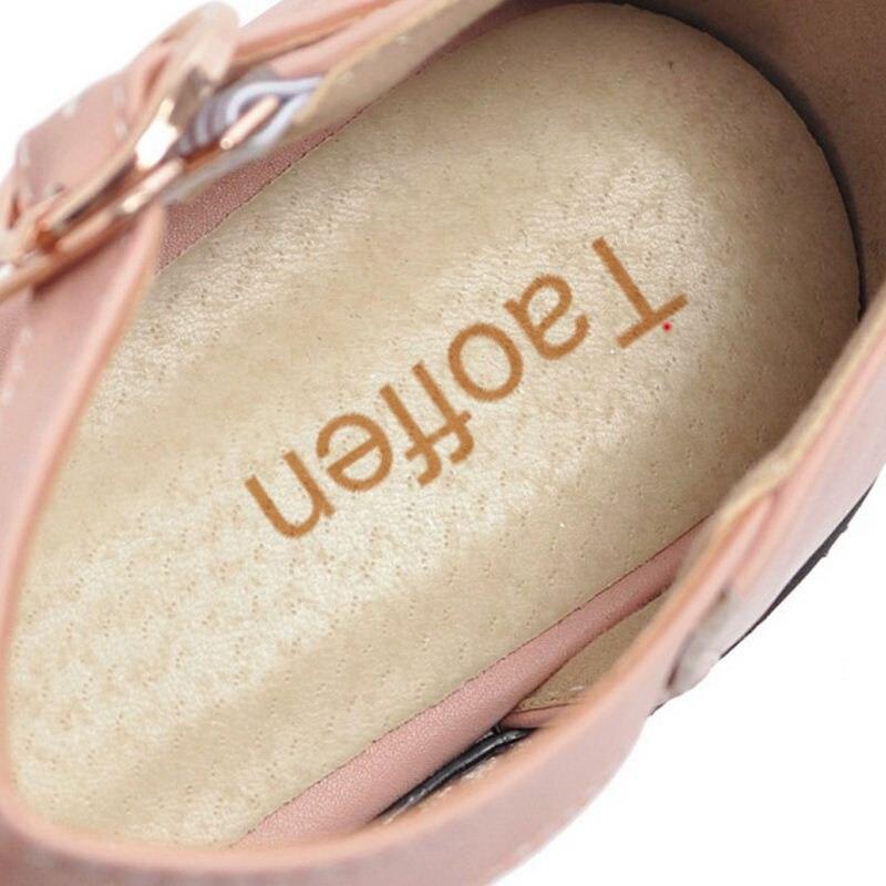 Solide Hauts 32 Femmes Volants Chaussures Couleur Cheville Taille Lady noir Strap Taoffen Beige Talon Talons Office ivoire rose 44 Pompes Épais À Simple Sandales F8pqnv5w6x