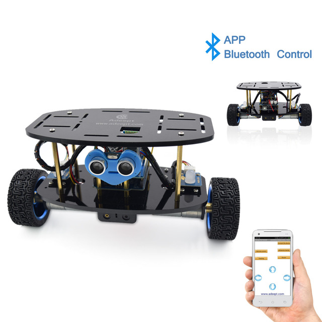 US $96 0 52% OFF|Adeept 2 Wheel Self Balancing Upright Car Robot Kit for  Arduino UNO R3 with PDF Instruction Book Android APP Remote Control-in