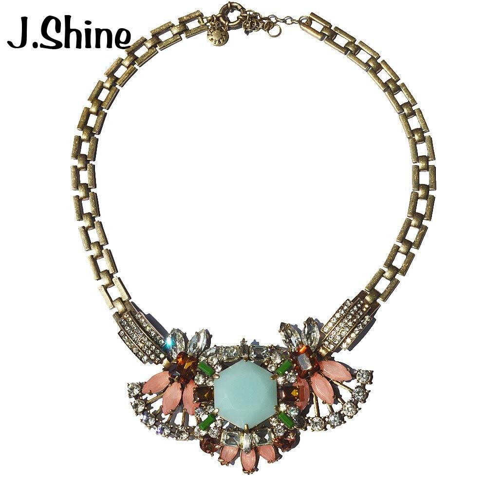 JShine classique grande marque bijoux de luxe collier femmes Colar Maxi collier colliers et pendentifs bijoux indien bijoux