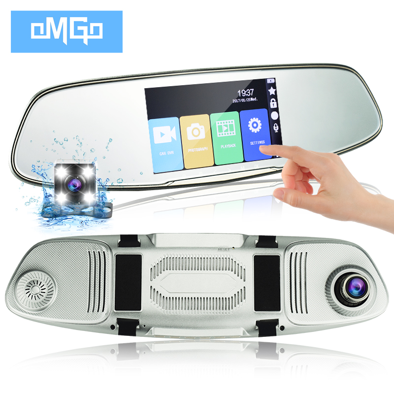5 inch IPS Touch Screen rearview mirror auto dvrs cars dvr registrator Full hd1080p night vision