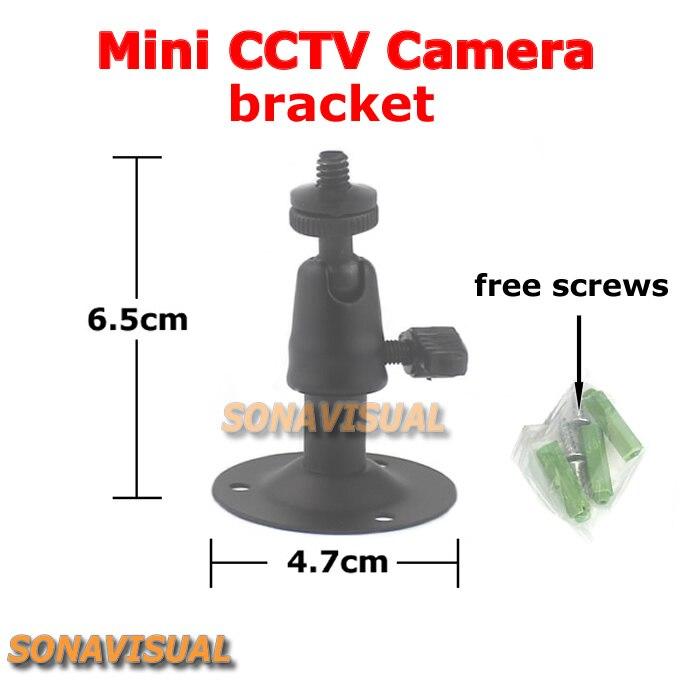 black metallic mini cctv camera gimbal bracket adjustable universal surveillance camera stand bracket wall mount cctv