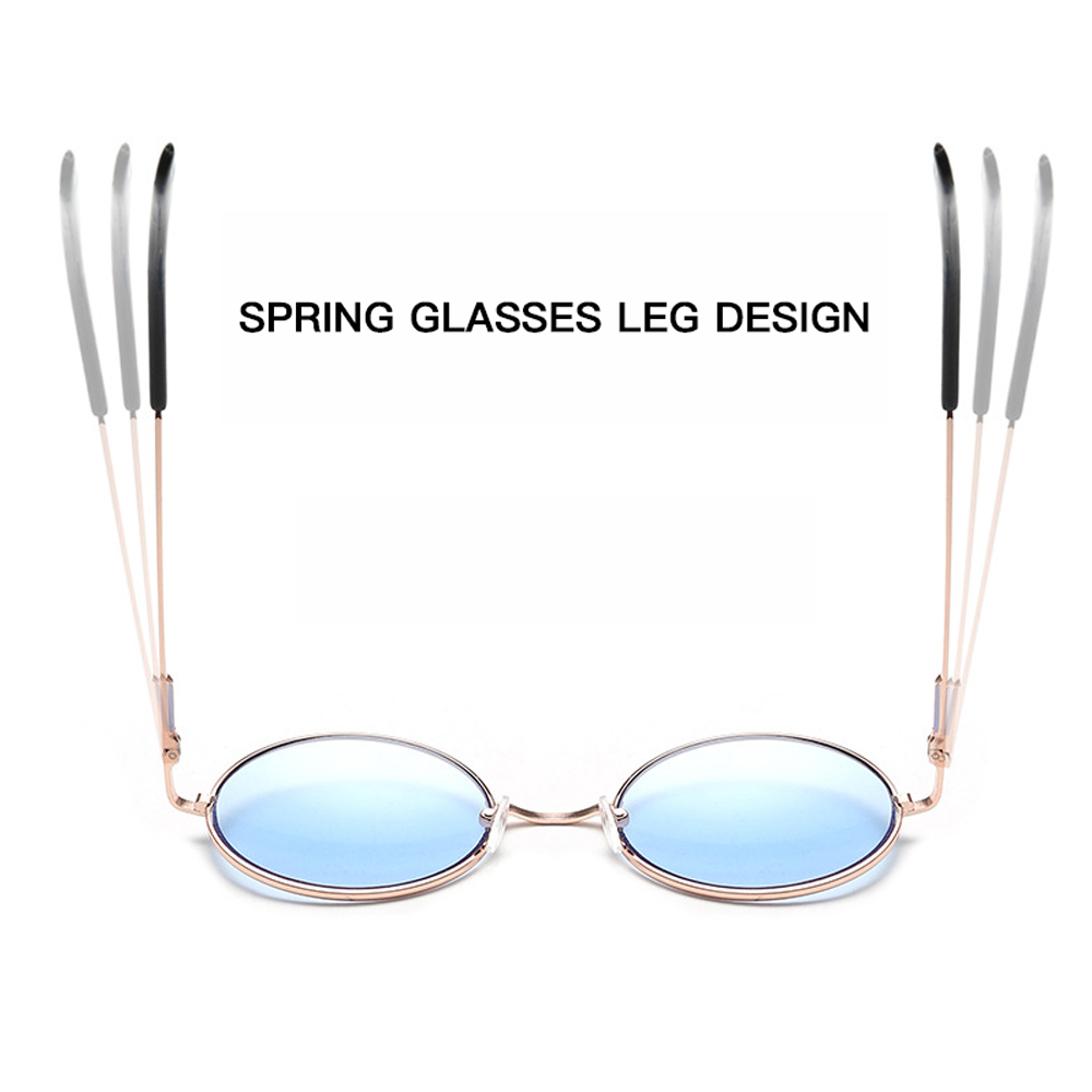 e0d884c7abc US $3.1 29% OFF|Women Multi Color Round Sunglasses Golden Frame Glasses  Shades Hippie Lennon Ozzy 60s 70s Vintage Steampunk Unisex Men-in Women's  ...